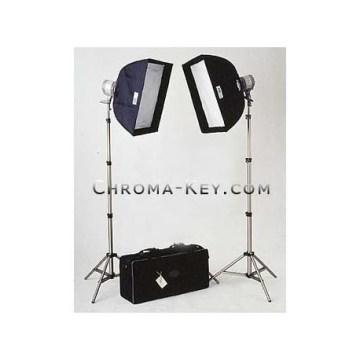 Chroma-key Light Kit-2 Quartz Lights