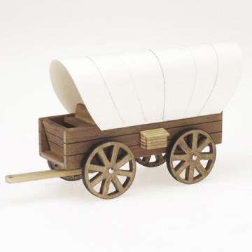 Wood Model Covered Wagon Kit