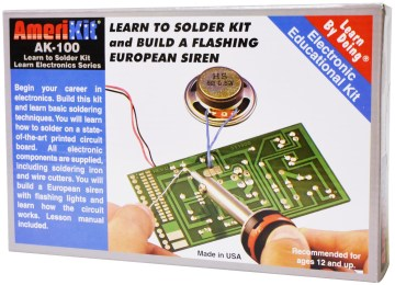 Learn to Solder Kit and Build a Flashing European Siren (Withiron & Cutters)