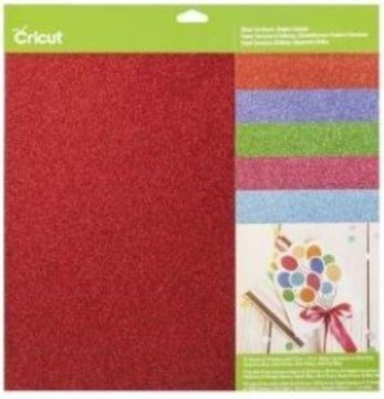 Cricut Glitter Cardstock Sampler, Brights